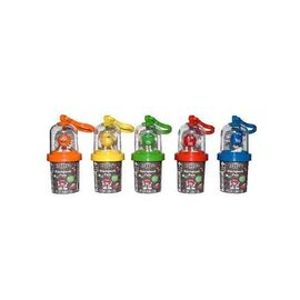 M&M CHARACTER FLASHLIGHT WITH CLIP 13G (6 OUTERS OF 12 UNITS)