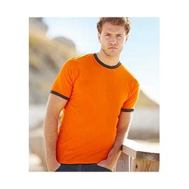 Fruit Of The Loom - Valueweight Ringer T