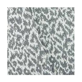 Black/Clay White Cotton Blend Abstract Texture Matelasse