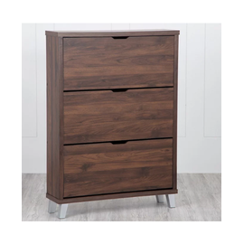 Lewis Flap Open Shoe Cabinet with Three Shelves