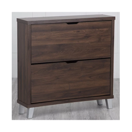 Lewis Flap Open Shoe Cabinet with Two Shelves