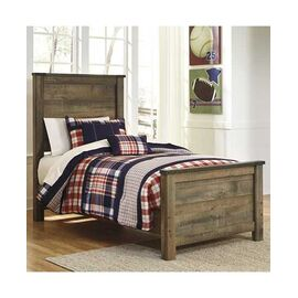 Signature Design by Ashley Trinell Rustic Look Twin Panel Bed
