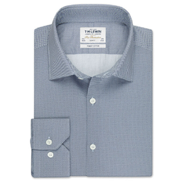 Slim Fit White and Navy Link Shirt