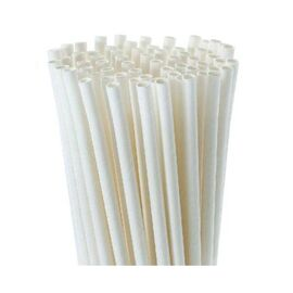 BioWare 5000 Piece 8mm Straws White (Individually Wrapped) Biodegradable