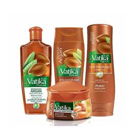 Vatika Stunning Hair Routine ENRICHED WITH ARGAN for problem free, beautiful hair