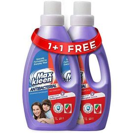 Maxkleen AntiBacterial Concentrated Liquid Detergent with 2in 1 Softergent Formula - For Daily Wear, 1L, 1+1 800001111110