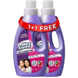 Maxkleen Daily Lingerie Care AntiBacterial Concentrated Liquid Detergent- For Inner Wears, 1L, 1+1 90101109